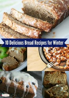 These 10 delicious bread recipes will keep you baking all winter youre sure to find something here that the whole family will love! Find the recipes on TodaysCreativelif. Tasty Bread Recipe, Quick Bread Recipes, Baking Recipes, Dessert Recipes, Desserts, Coconut Banana Bread, Cinnamon Roll Monkey Bread, Brownies, Buttermilk Recipes