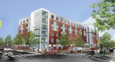The future residence hall on Bryant Street at Howard U.
