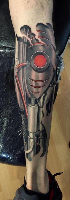 Tattoo | Leg | Biomechanic                                                                                                                                                     Mais