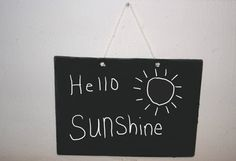 Hello Sunshine Nursery kids Room wood Sign plaque by ElsaBellART