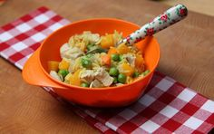 Easy-to-make pasta dishes, casseroles, Mexican enchiladas, homemade fishcakes, vegetarian meals and puddings