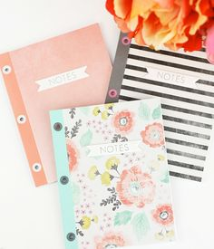 Unbelievably Beautiful Eyelet-Bound Notebooks: make notebooks more easily than ever with this beautiful book making tutorial.