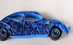 Experiments in Quilling - Cars! by Roshini Pochont, via Behance