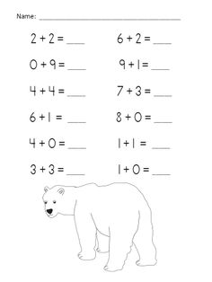Polar Add-Venture Addition Practice Packet (Sums of 0-10) $ http://www.teacherspayteachers.com/Product/Polar-Add-Venture-Addition-Practice-Packet-Sums-of-0-10-479449