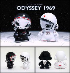 """""""Odyssey 1969"""" custom Munny set by Otto Björnik"""