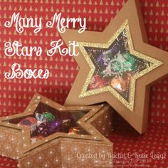 Stampin' Up! Many Merry Stars Kit Boxes with Brad-Hinge Opening | Christmas Treat Boxes | Created by Rachel Legge http://rachelleggestampinup.wordpress.com/2014/12/31/many-merry-stars-alternative-star-box-with-brad-hinge-opening/ #Christmas #Treat #StampinUp #ManyMerryStars