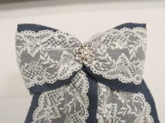 Blue burlap and lace pew bow vintage wedding by Blueburlapwedding, $12.00