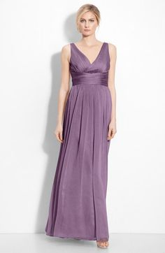 ML Monique Lhuillier Bridesmaids Sleeveless Ruched Chiffon Dress (Nordstrom Exclusive) available at #Nordstrom