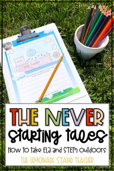 Take your learning outside with The Never Starting Fairy Tales. Includes six FREE ELA and STEM activities to pair with digital reinterpreted fairy tales. Printable activities included for students and families! #OFFPartner @OFFrepellant Stem Activities, Learning Activities, Positive Behavior Support, Third Grade Science, Outdoor Classroom, Outdoor Learning, Classroom Displays, Science Projects