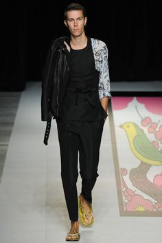 Photo by Yukie Miyazaki, Designer Hidenori Kumakiri brought a fresh, modern and very wearable take on traditional Japanese apparel and design motifs. - WWD