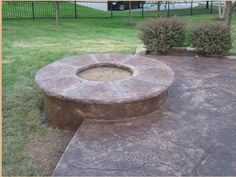 Built in fire pit / fire place in the backyard garden deck terrace patio. Perfect hight!