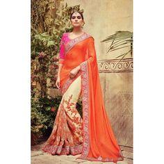 Lustrous Trendy Designer Saree ( D.No.611 )