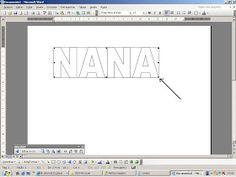 Nana&Nanda: PAP - Como fazer as letras para patchcolagem