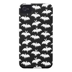 Cute white bats flying together phone cover.
