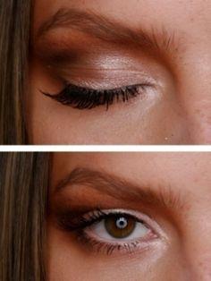 Daytime eye makeup.  Makeup Tips for Brunettes.