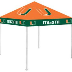University of Miami Hurricanes Canes Outdoor Tailgate Canopy Tent Miami Hurricanes Gear, University Of Miami Hurricanes, Football Tailgate, Tailgating, Colleges In Florida, University Tees, Canopy Tent, Event Planning