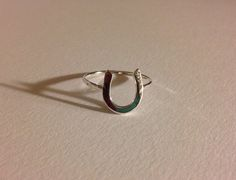 Horse shoe ring, horse shoe, good luck ring, sterling silver horse shoe, handcrafted horse shoe by EllynBlueJewelry on Etsy