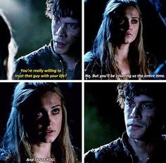Bellarke 3x14 #The100 Clarke has been trusting Bellamy since season 1
