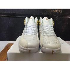 """0139e37c451ce1 Air Jordan 12 """"OVO"""" PEs White Metallic Gold-White"""