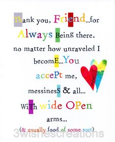 8 x 10 Whimsical Art Print Friend Arms Wide by 3WishesCreations