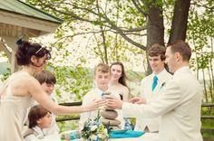 Alternative wedding ceremony idea: Stone Cairn tower ceremony! From a DIY, small-budget, personalized Maryland wedding. Images by Raven Shutley, You Are Raven Photography.