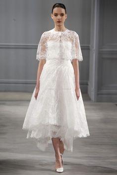 Spring 2014. Bridal collection. L'abito da sposa corto di Monique Lhuillier