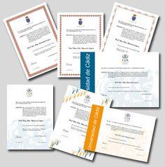 Como fazer e imprimir certificados e cartões on-line.