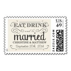 Cream White Parchment Rustic Country Wedding Postage