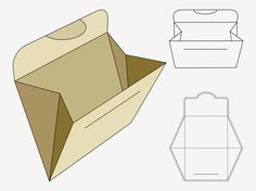 Vector footage of a folder or paper pocket template. Printable paper craft, lines for gluing, folding and cutting and image of the finished objects. Free vector for folders, packaging, paper crafts, paper and DIY projects visuals. Folder graphics with blank space for branding and logos. Vector Folder by creativosonline.org