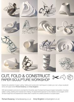 One of the first paper artists I started researching at the beginning of my final major project was Richard Sweeney, renowned for his expertise in folding paper and creating complex sculptural forms. It was with fantastic good timing that I then discovered he was about to run a paper sculpture workshop, at the Victor Felix …
