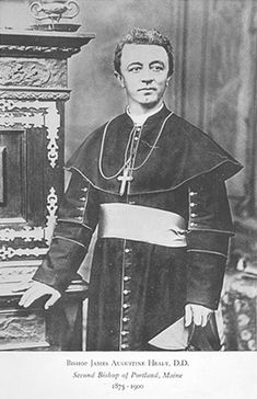 1. James Augustine Healy (1830-1900) -Though not as documented as his brothers, James did found the Healy legacy of achievement.  He graduated from the College of the Holy Cross in 1849.  In 1875, Healy became the first African-American Roman Catholic bishop, as he was installed as Bishop of Portland, Maine.   James oversaw the establishment of 60 new churches, 68 missions, 18 convents and 18 schools