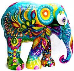 magia 2015 florianopolis Colorful Elephant, Asian Elephant, Elephant Love, Elephant Art, Elephant Design, Elephant Sculpture, Sculpture Art, Comic Cat, Elephants Photos