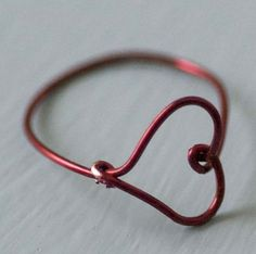 Wire Heart Finger Ring Diy Use nylon jawed pliers to avoid the damage to the plated wire you see here. Or use solid copper or sterling silver wire, not that expensive and can stand up to use, especially done by us novice jewelry makers.