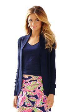 Amalie Open Front Cardigan - Lilly Pulitzer True Navy