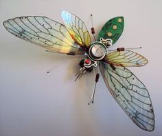 The Large Organic Forms Circuit Board Bug by DewLeaf on Etsy Old Computers, Textiles, Human Eye, Electronic Recycling, Organic Form, Purple Glass, Circuit Board, Box Frames, Bugs
