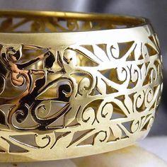 BRASS * Round SilverSari Jali Bangle * Hand-crafted by Silversmiths * ML (66mm)