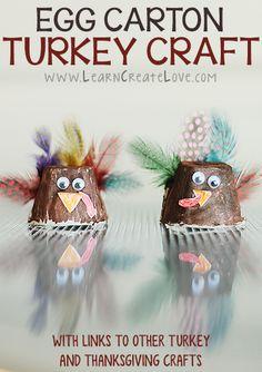 Egg Carton Turkey Craft | LearnCreateLove.com