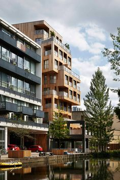 """Architects Hawkins\Brown claim this 33-metre-high apartment block is """"the tallest building to use structural cross-laminated timber in Europe""""."""