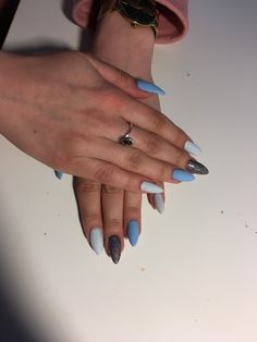 #nails #bluenails #inspiration #mynails #glow Blue Nails, My Nails, Glow, Inspiration, Blue Nail Beds, Blue Nail, Biblical Inspiration, Inspirational, Inhalation