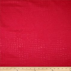 Golding Crocodile Flannel Back Satin Flame Red from @fabricdotcom  This flannel backed embossed (quilted appearance) polyester satin fabric is perfect for accent pillows and upholstery projects such as ottomans, poufs and headboards.