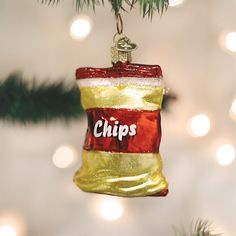 9b44020377e  11.99 - 32154 Bag Of Potato Chips Old World Christmas Glass Ornament Snack  Food  ebay