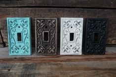Vintage Style Cast Iron Metal Switch Plate Switchplate Cover Light Switch ~ Gold ~ Aqua Teal ~ Black ~ White on Etsy, $9.99