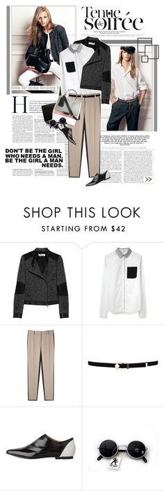 """""""30.08.12"""" by nkara ❤ liked on Polyvore featuring Vanessa Bruno Athé, Proenza Schouler, 3.1 Phillip Lim, Karen Millen, oxford shoes and flatform shoes"""