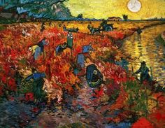 Vincent van Gogh Red vineyards painting for sale - Vincent van Gogh Red vineyards is handmade art reproduction; You can buy Vincent van Gogh Red vineyards painting on canvas or frame. Art Van, Van Gogh Art, Vincent Van Gogh, Van Gogh Pinturas, Painting Prints, Art Prints, Canvas Prints, Van Gogh Paintings, Sunset Paintings