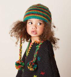 Modèle bonnet péruvien fille - Modèles Enfant - Phildar Enfant Metisse,  Jolies Petites Filles, ad03ad45676