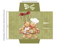 Digital Printable Cocoa Envelope Sugar and Spice 002