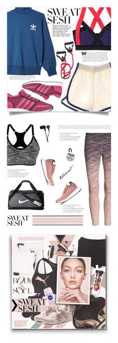 """Winners for Sweat Sesh: Gym Style"" by polyvore ❤ liked on Polyvore featuring adidas Originals, adidas, sweatsesh, Zella, NIKE, Skullcandy, Puma, Miss Selfridge, Pryma and Maybelline"
