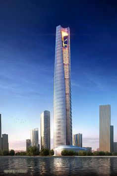 Dalian Greenland Center, Dalian-China, 518 m, UC, architect-HOK/ECADI