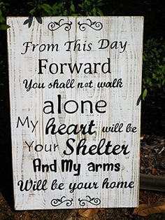 Wedding Quotes : Large Wedding Quote Custom Hand Painted Wood Sign Love Quote Wood Sign Rustic We Wedding Poems, Wedding Readings, Into The Woods Quotes, Wooden Wedding Signs, Do It Yourself Wedding, Ceremony Signs, Custom Wood Signs, Wooden Signs, Trendy Wedding