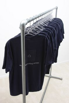 Pipe Clothing Rack - Free Standing, Single Rail - Kee Klamp - Simplified Building, Kee Klamp, Railings, Connectors and Structural Solutions,